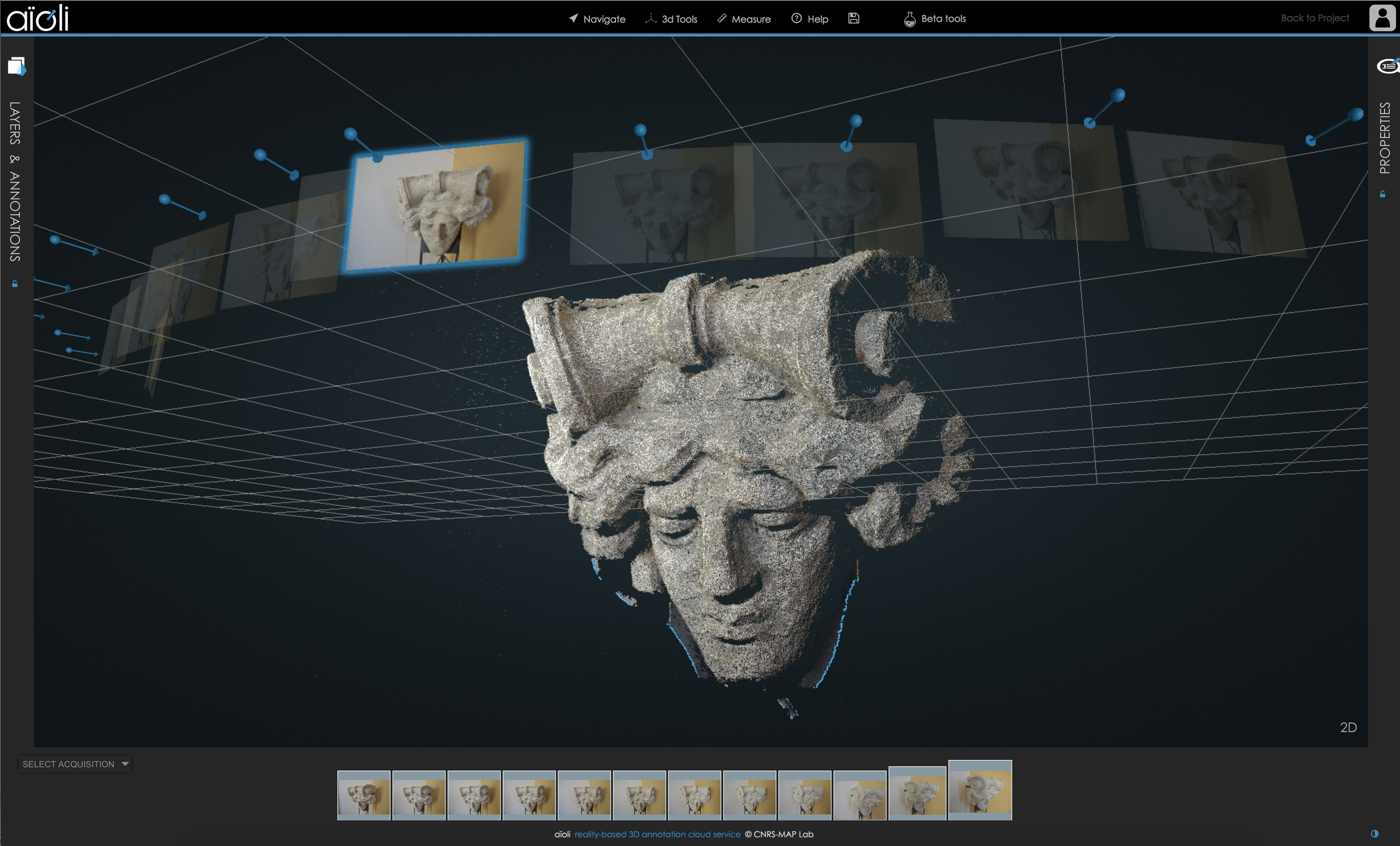 aïoli – A reality-based 3D annotation cloud platform for the